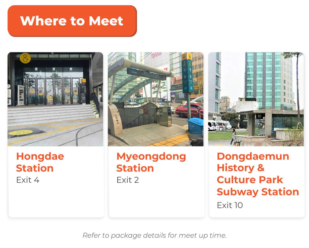 meet up location infographic