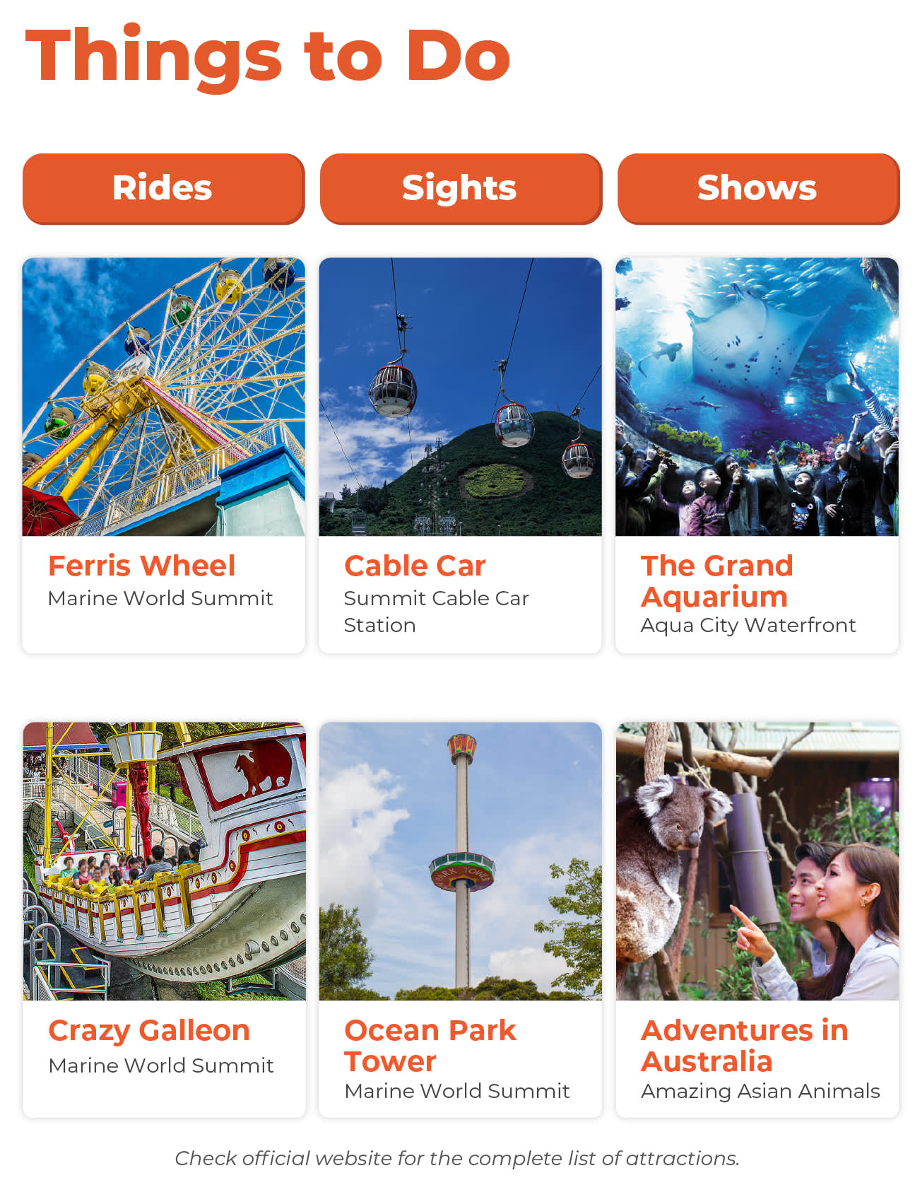 Things to Do at Hong Kong Ocean Park