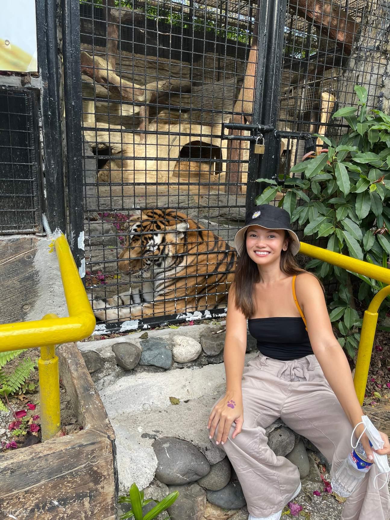 girl with tiger in avilon zoo