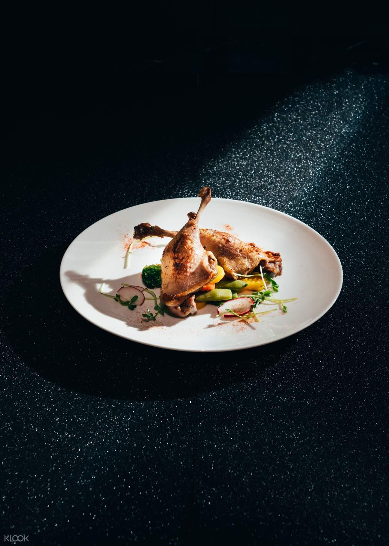 半自助午餐 - 烤紐西蘭羊架配迷迭香燒汁