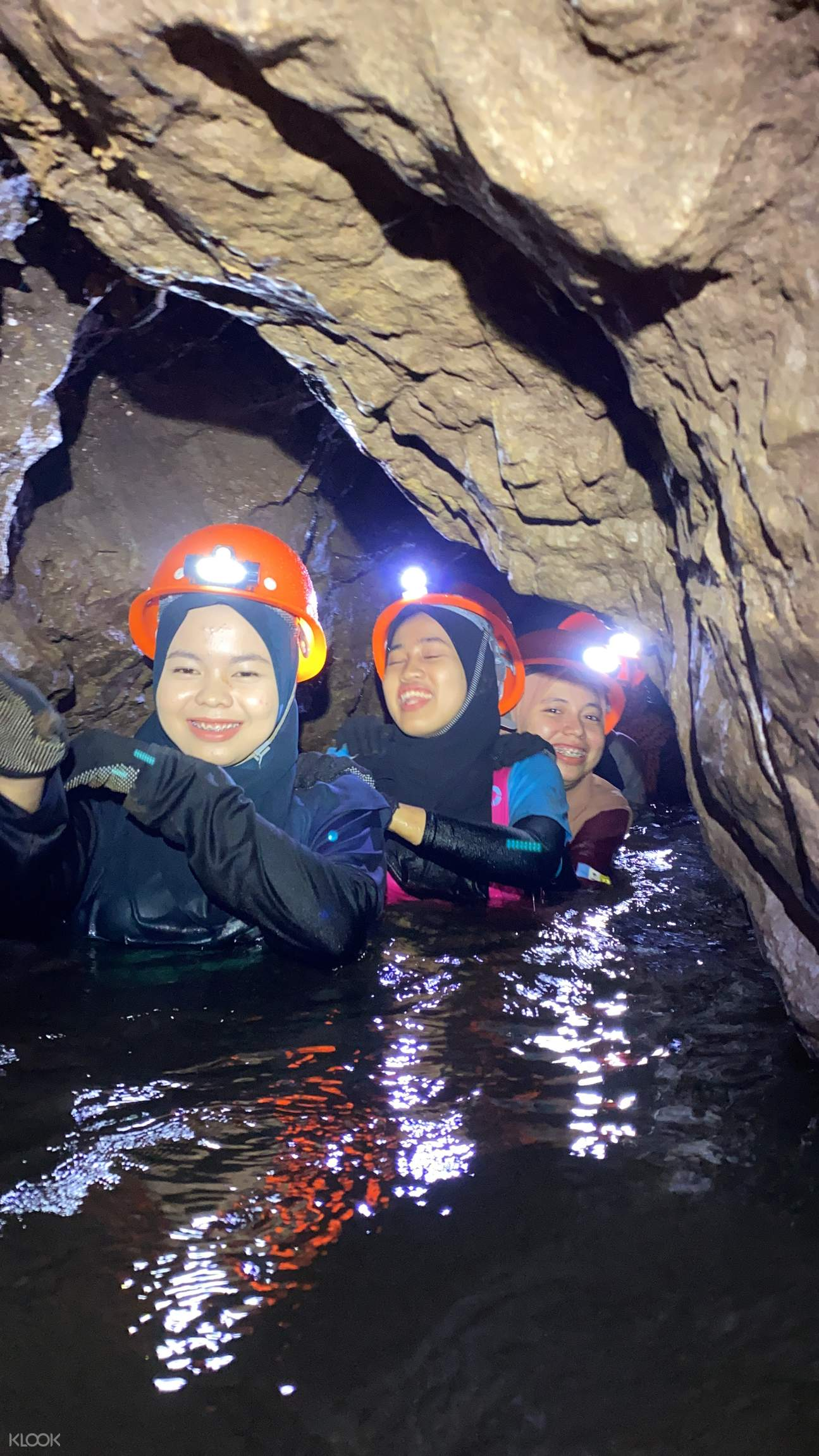 river in the cave