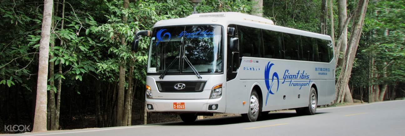 bus transfer to Phnom Penh or Sihanoukville by Giant Ibis