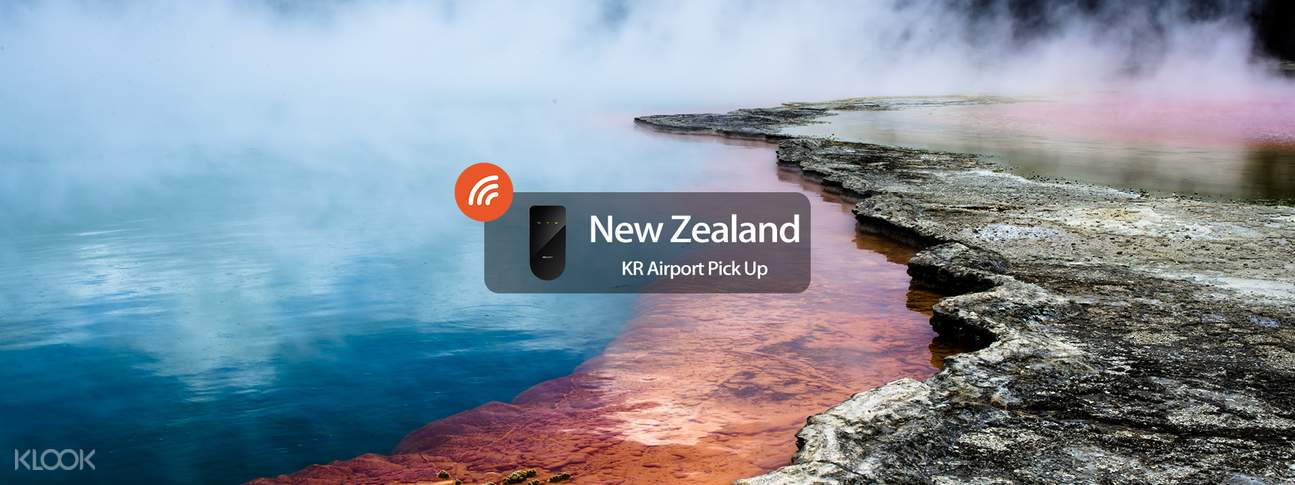 4G WiFi (KR Airport Pick Up) for New Zealand from WIDEMOBILE