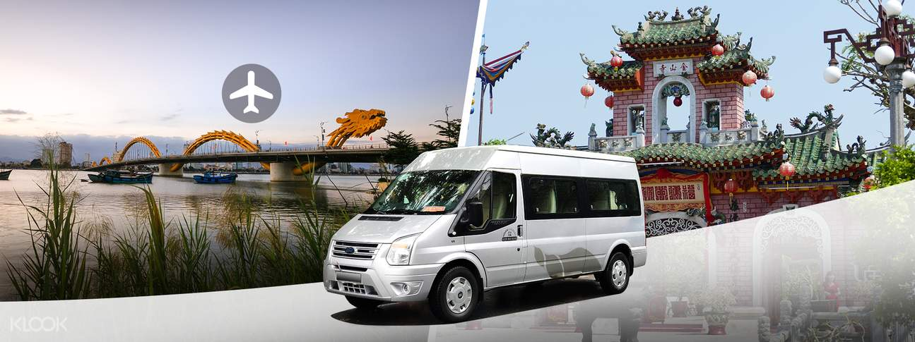 shuttle bus transfers da nang airport to hoi an or da nang