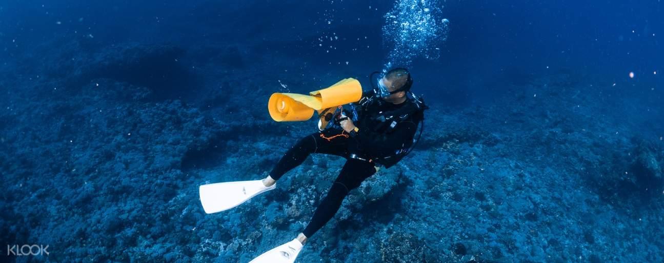 提供專業潛水裝備及專業教練陪同,安心有保障