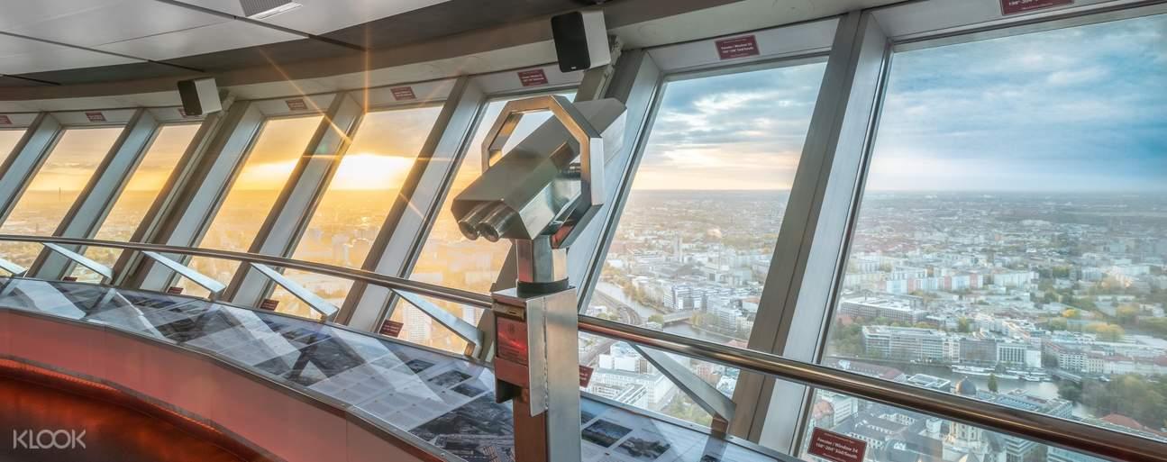 observation deck of berlin tv tower