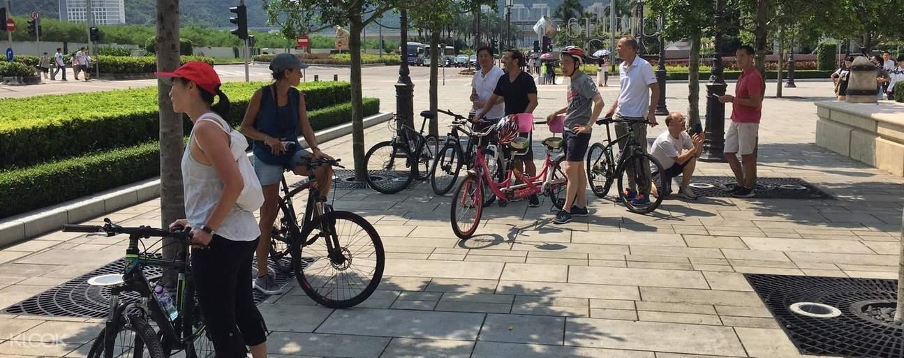 bike tour around taipa