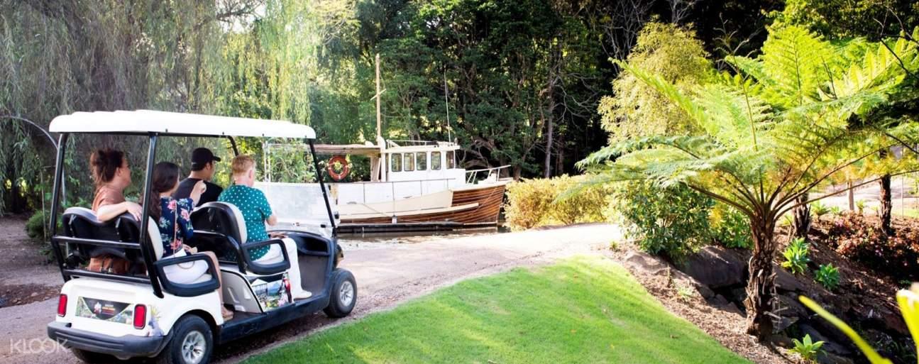 a golf cart somewhere in Maleny Botanical Gardens