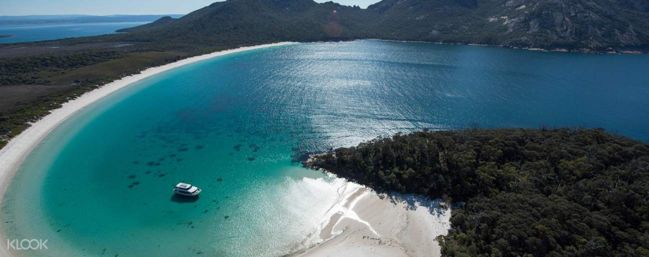 Breathe in the fresh air of this beautiful Wineglass Bay and its unique ecology