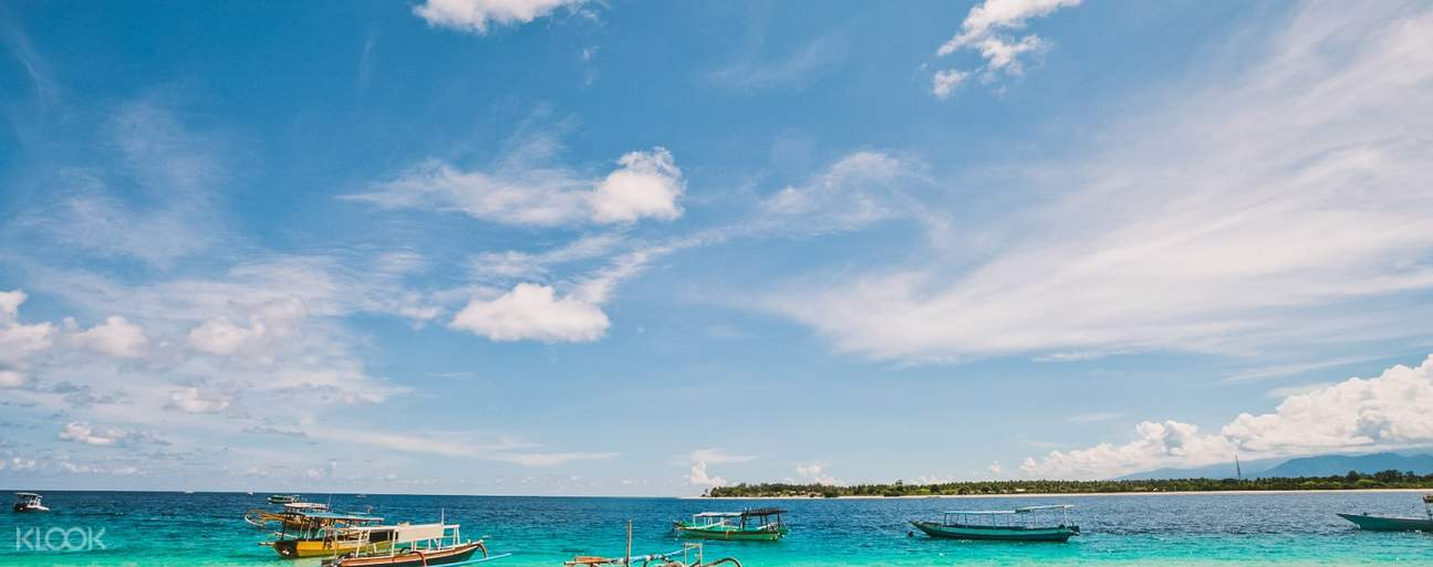 Sit back, relax, and enjoy a beautiful view of Gili Islands