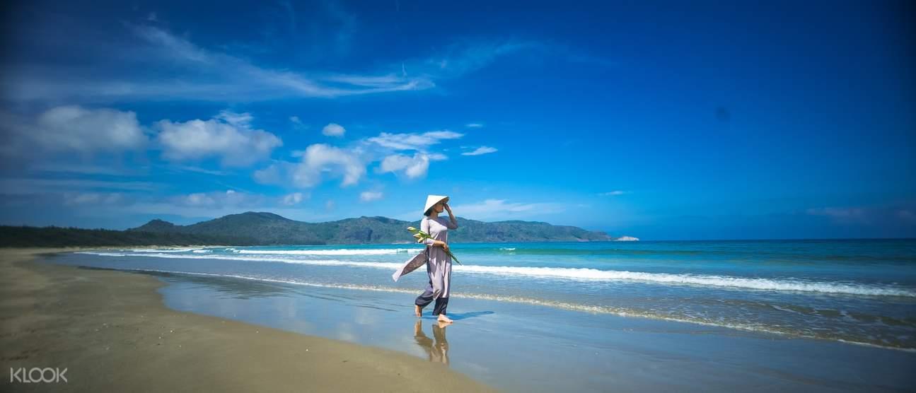 bãi biển riêng ở poulo condor resort & spa