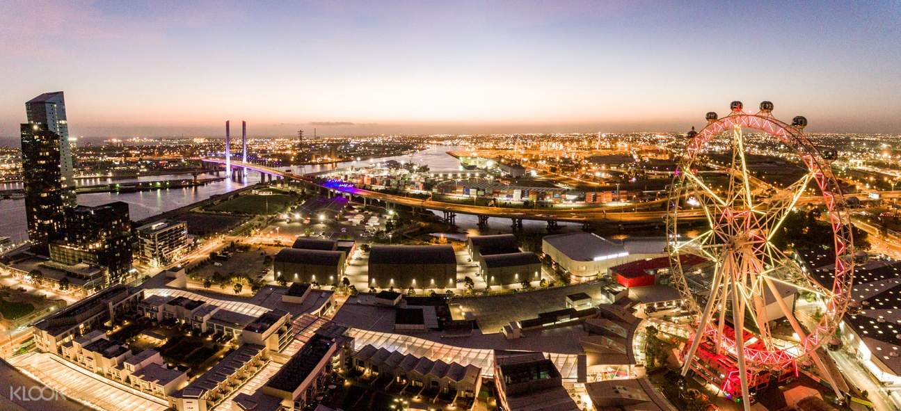 melbourne city sunset view