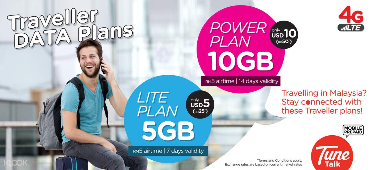 4g sim card senai international airport pick up