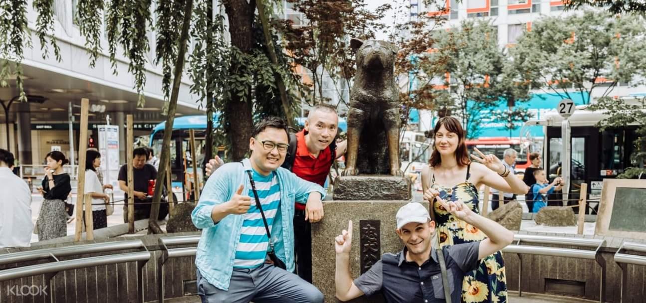 Hachiko-memorial-statue-Shibuya-Tokyo