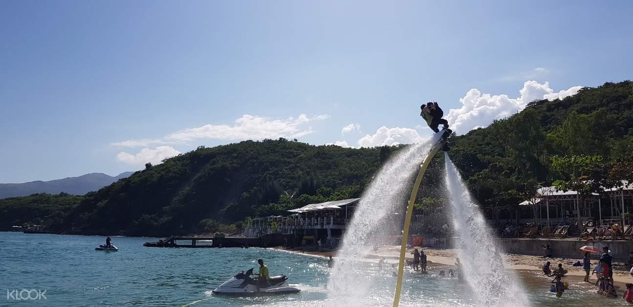 water activities at tranh beach