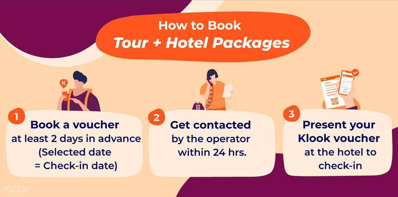 how to book tour + hotel