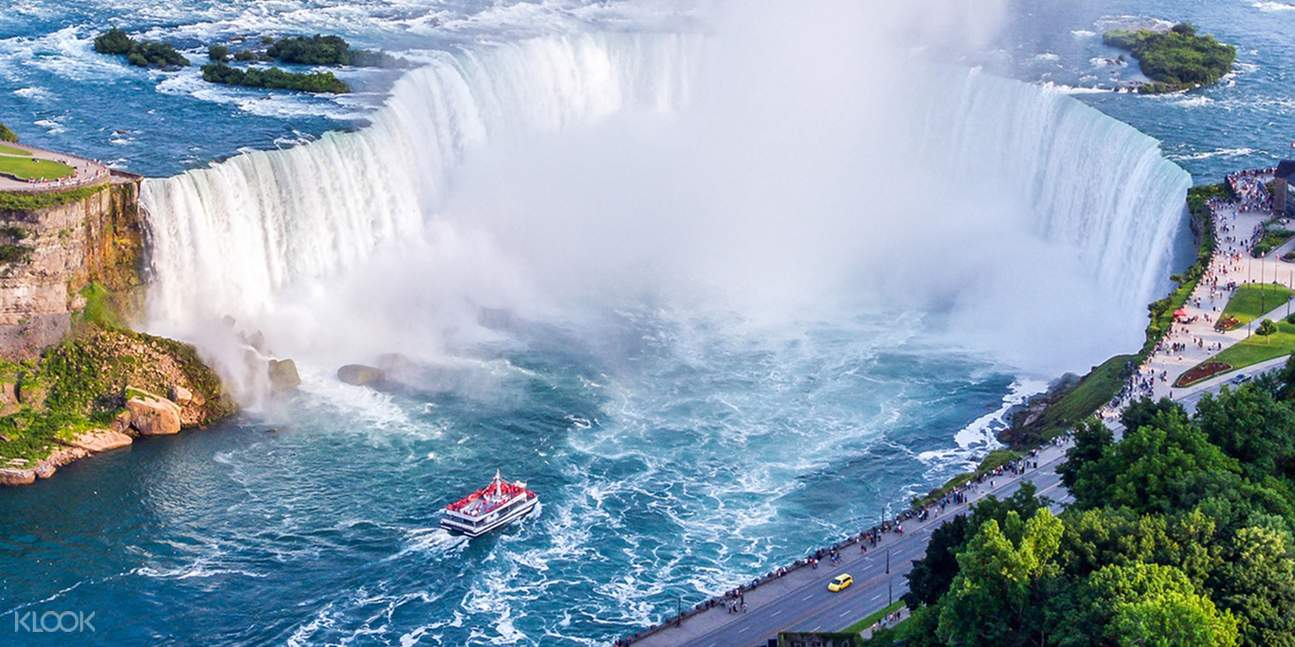 Enjoy free time to explore Niagara Falls and participate in optional activities like the Hornblower boat ride, Journey Behind the Falls or the Skylon Tower