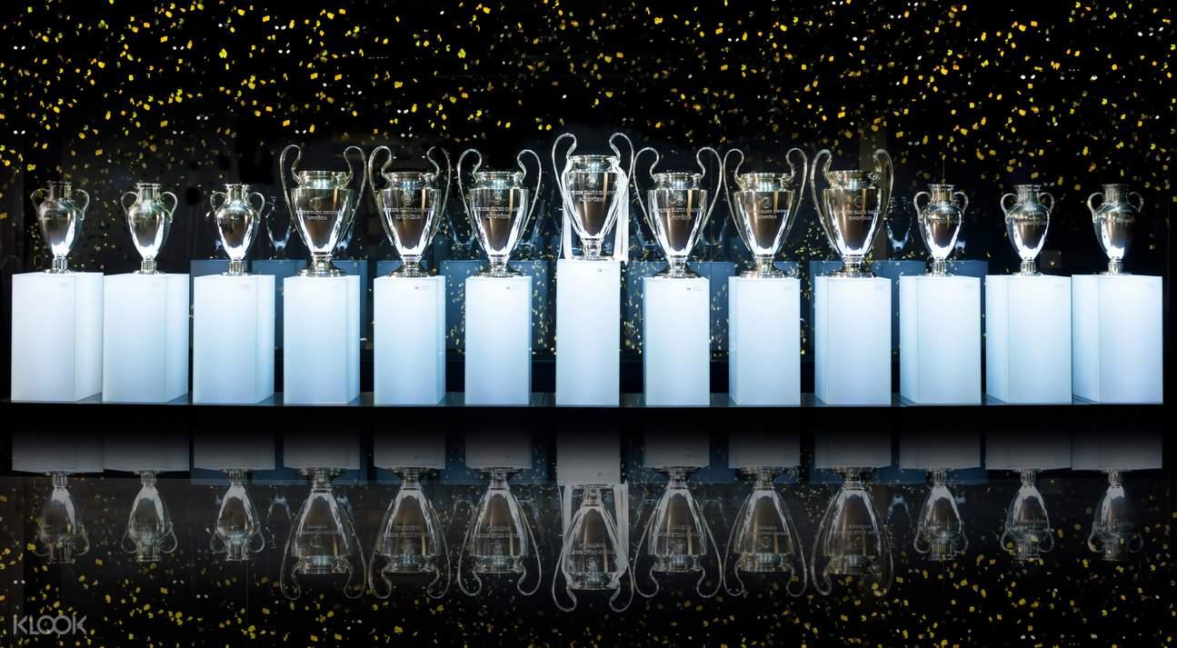 trophies in bernabéu stadium
