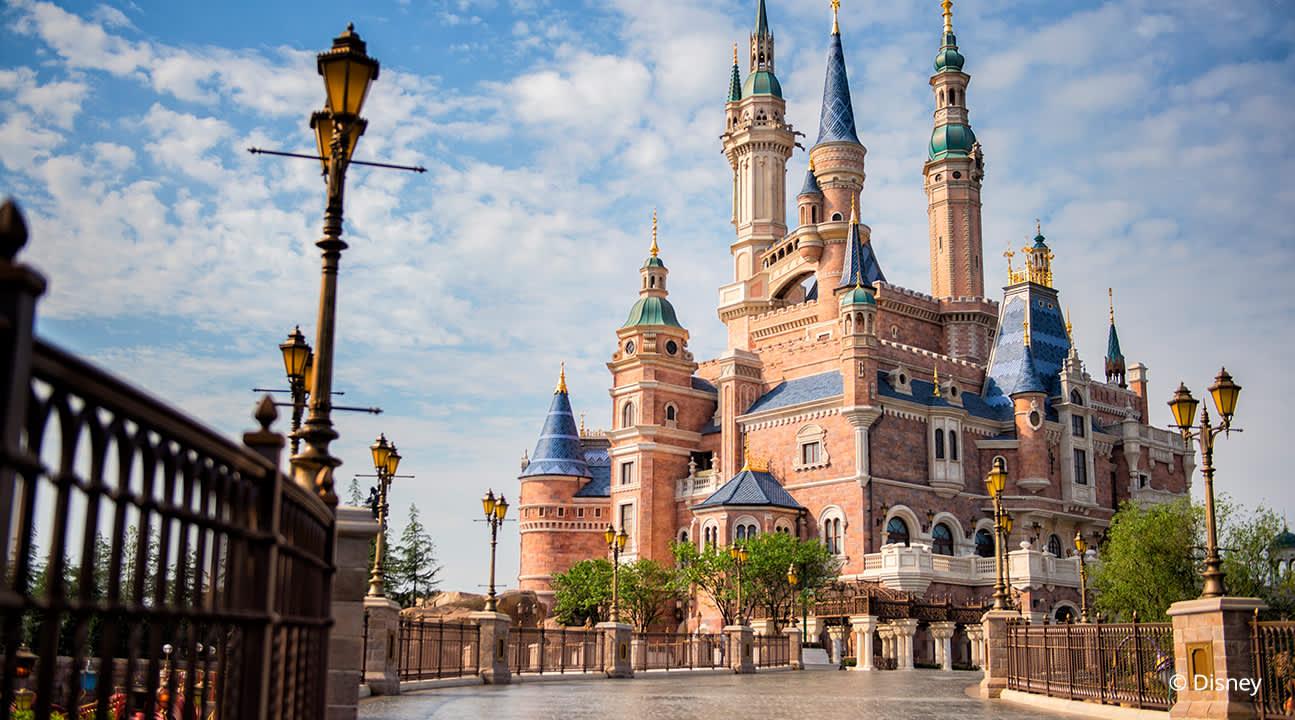exterior of the Disney castles
