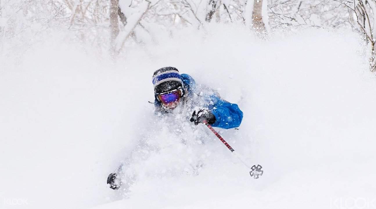 根据粉雪降雪量,教练也会带你到道外野雪玩哦