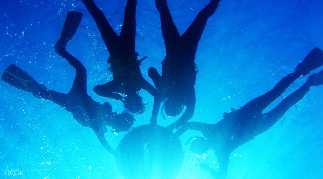 blue cave okinawa scuba