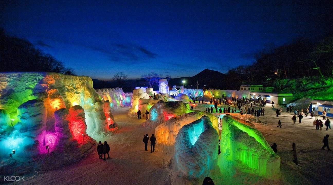 北海道 支笏湖冰濤祭