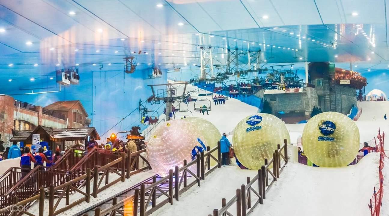 human hamster ball dubai tourism ski dubai