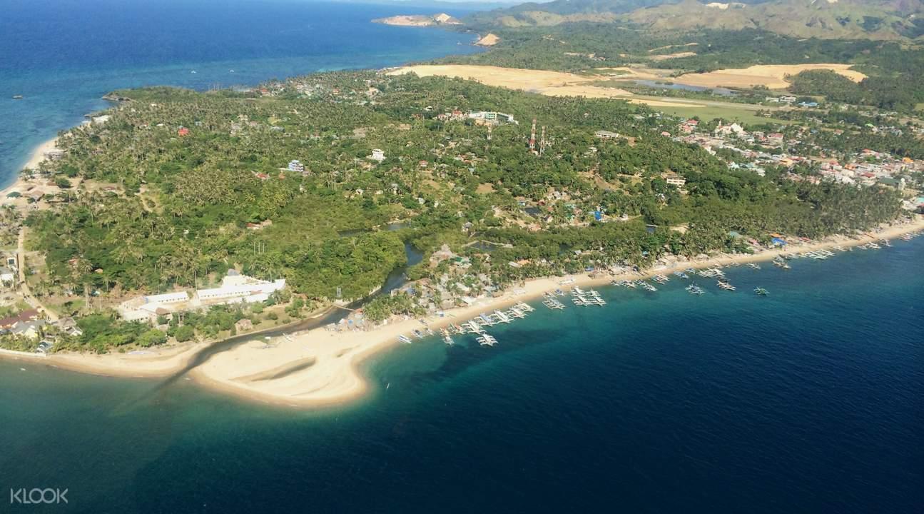 直升机飞越长滩岛