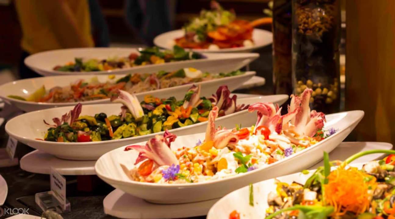 international buffet food