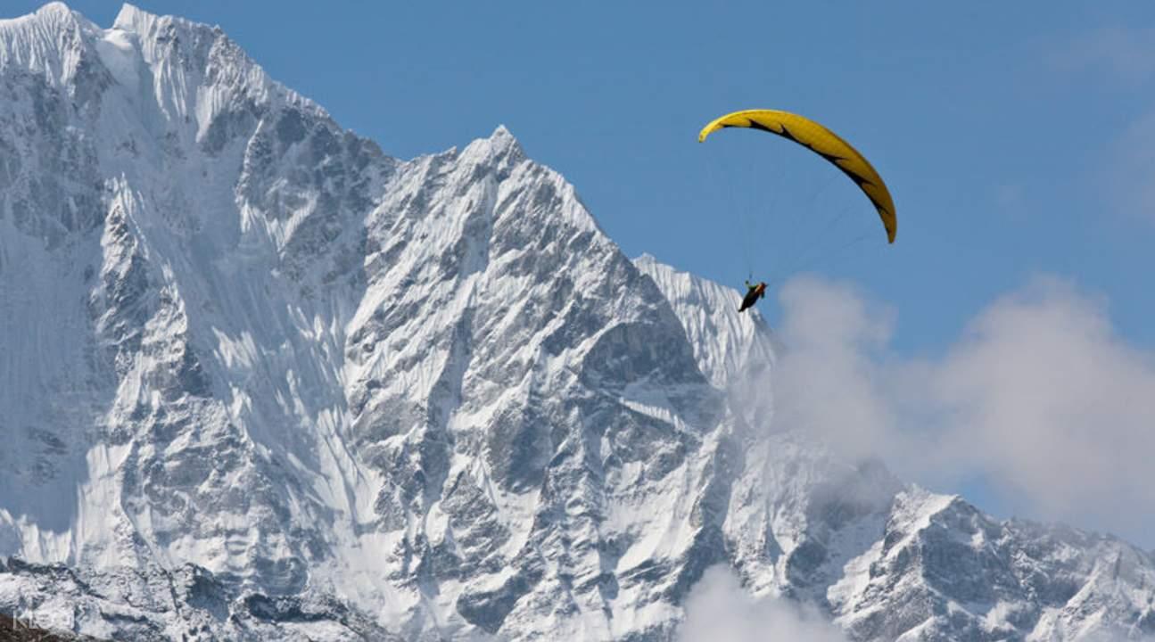 滑翔伞飞越博卡拉