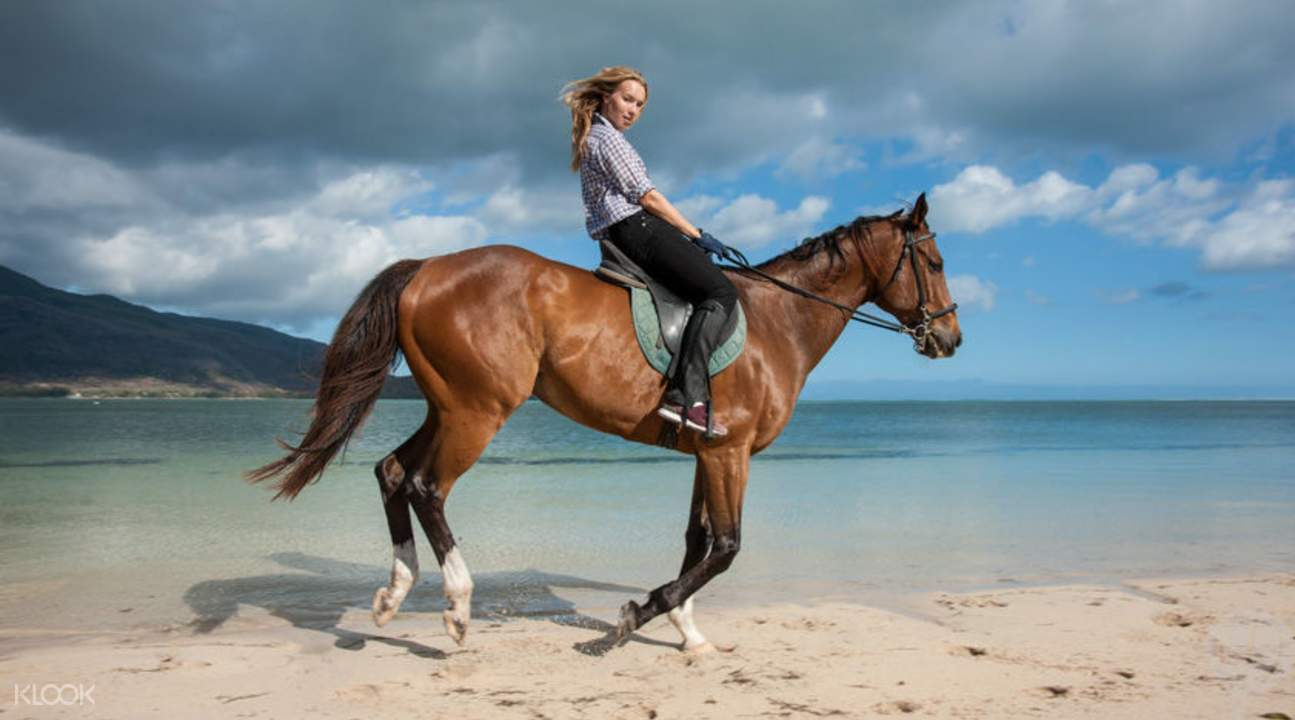 le morne horseback riding in mauritius