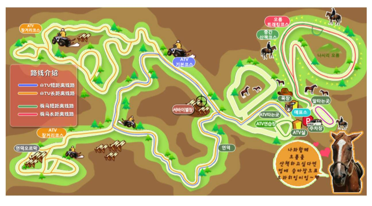 jeju island horse riding map
