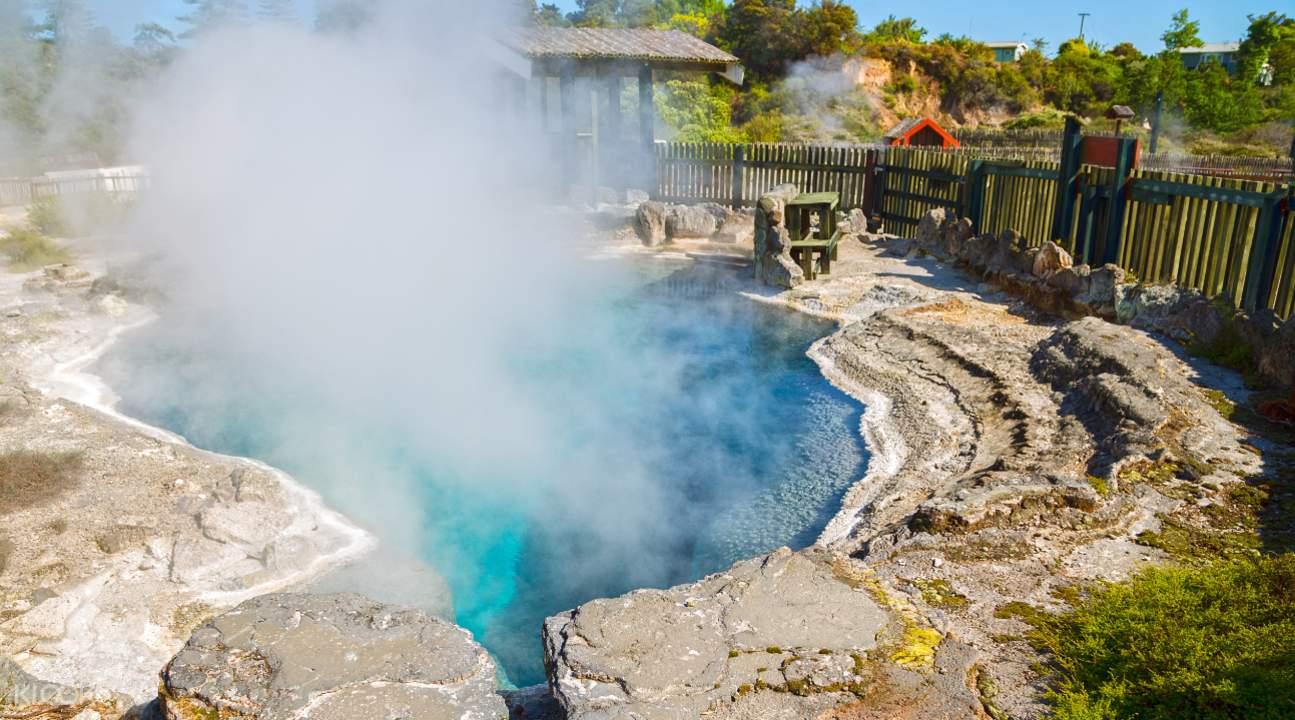 Whakarewarewa Village blue pool