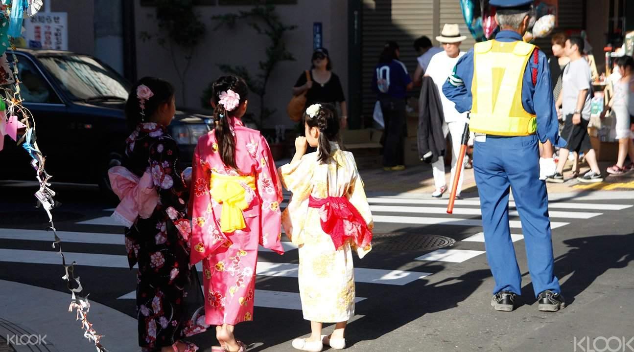 Kimono dress up tour