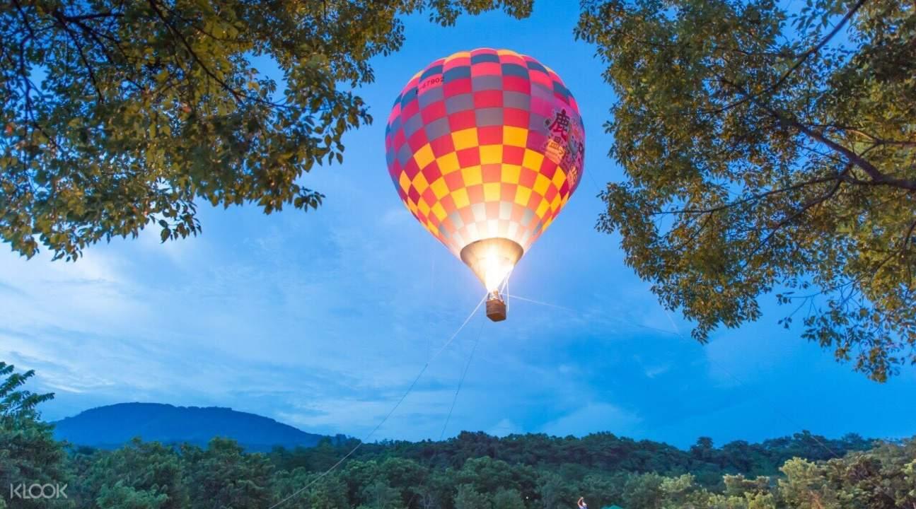 鹿鸣酒店热气球体验