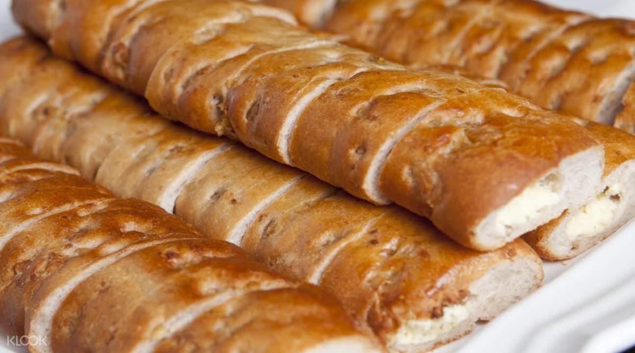 济州岛烤烤火炉披萨面包