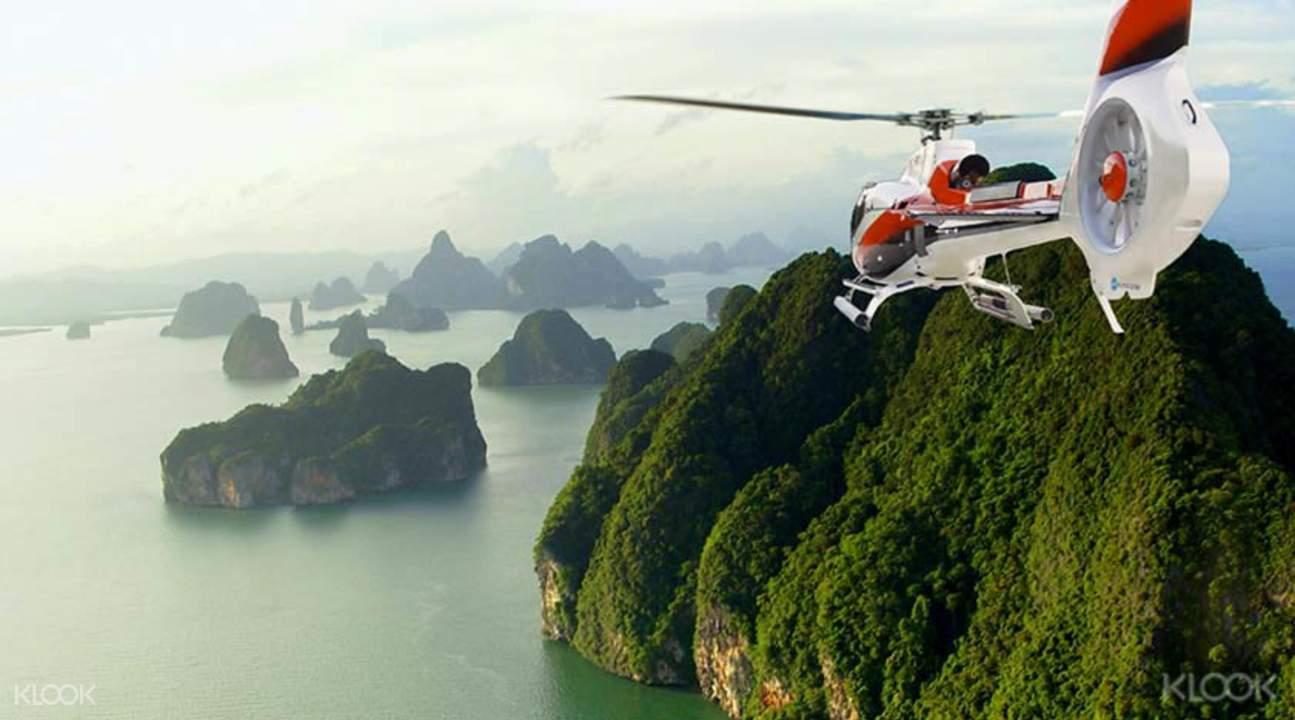 私人直升机俯瞰普吉岛