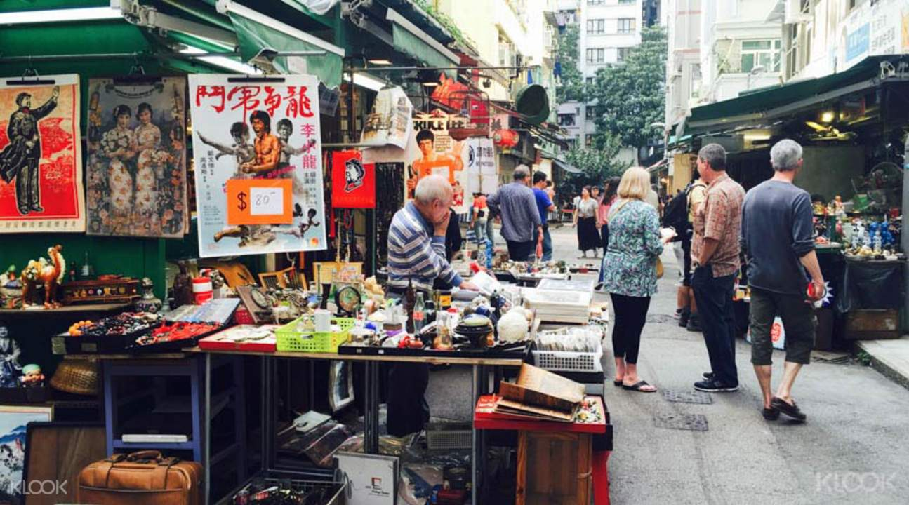 hong kong market walking tour