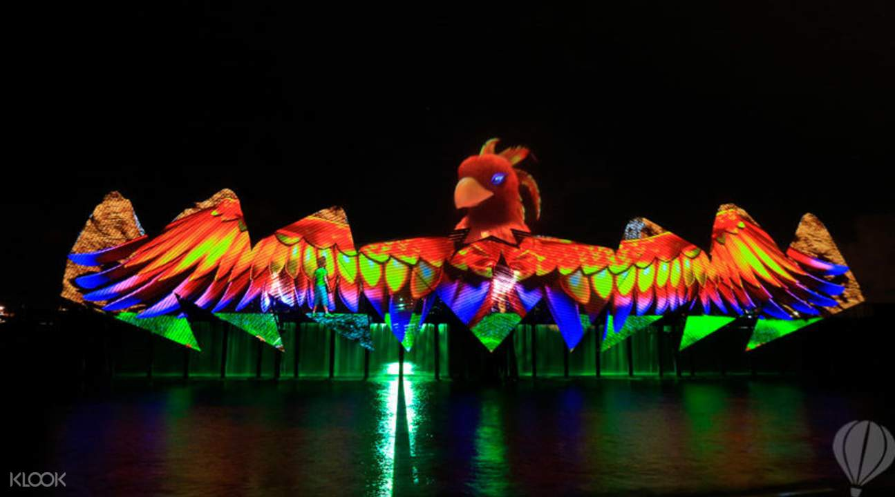 Enjoy The First Permanent Night Show On Open Sea Ending With Fireworks Display Laser Show Sentosa