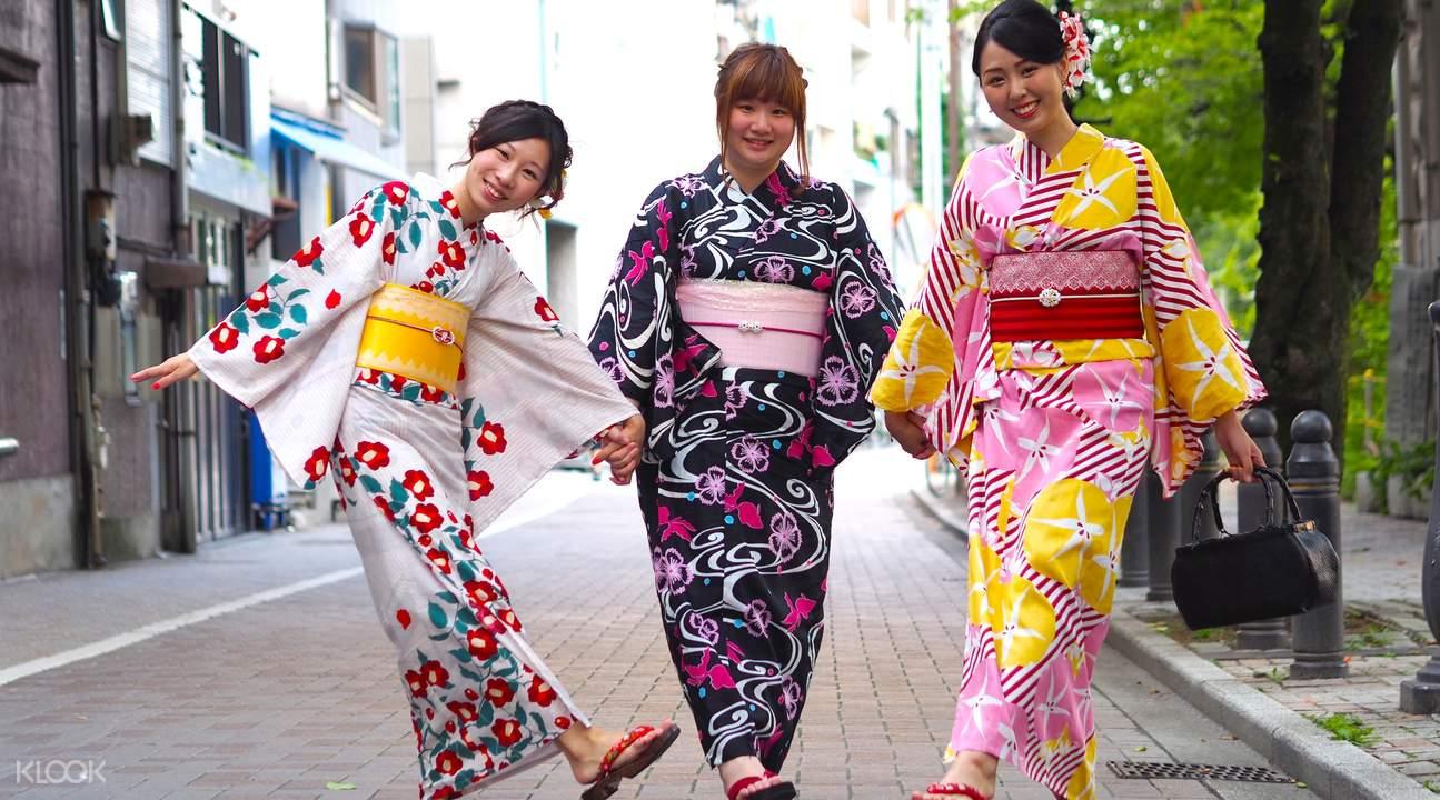 ประสบการณ์แต่งชุดกิโมโนชมโตเกียว Klook