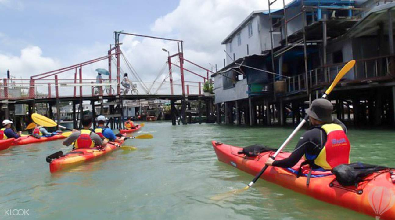 stilt houses as seen from kayaking