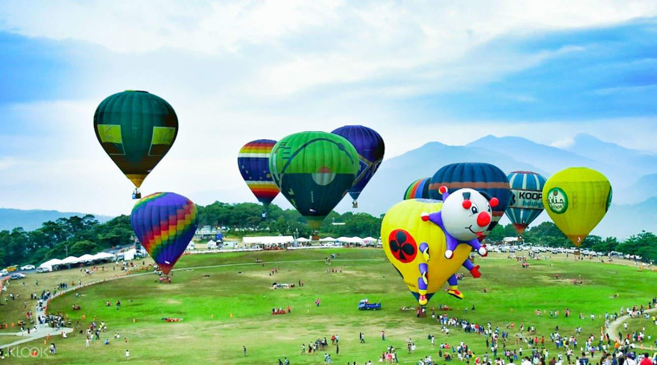 鹿野高台的热气球嘉年华