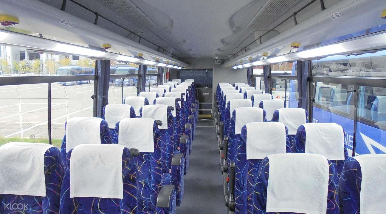 利木津巴士擁有寬敞座位,乾淨整潔空間
