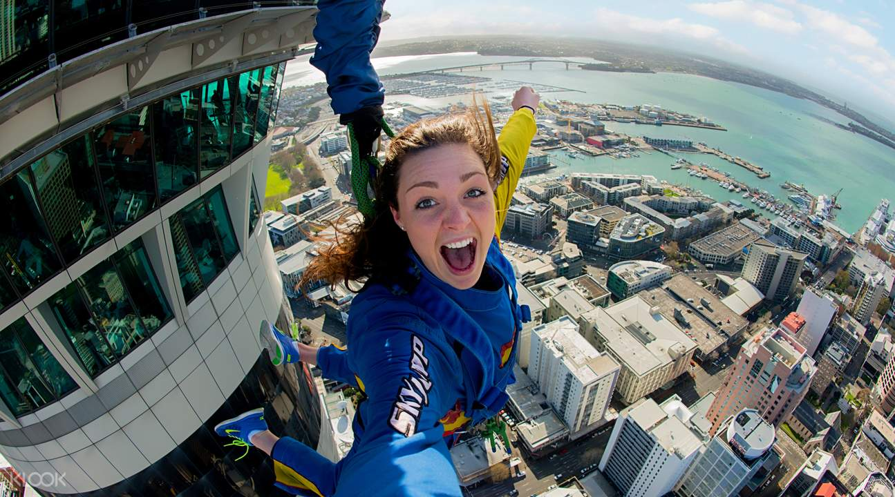 Jump off Auckland Sky Tower