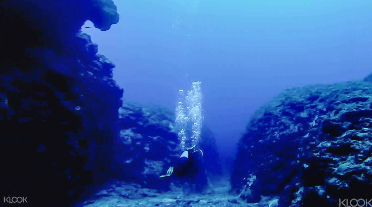 冲绳青洞潜水4