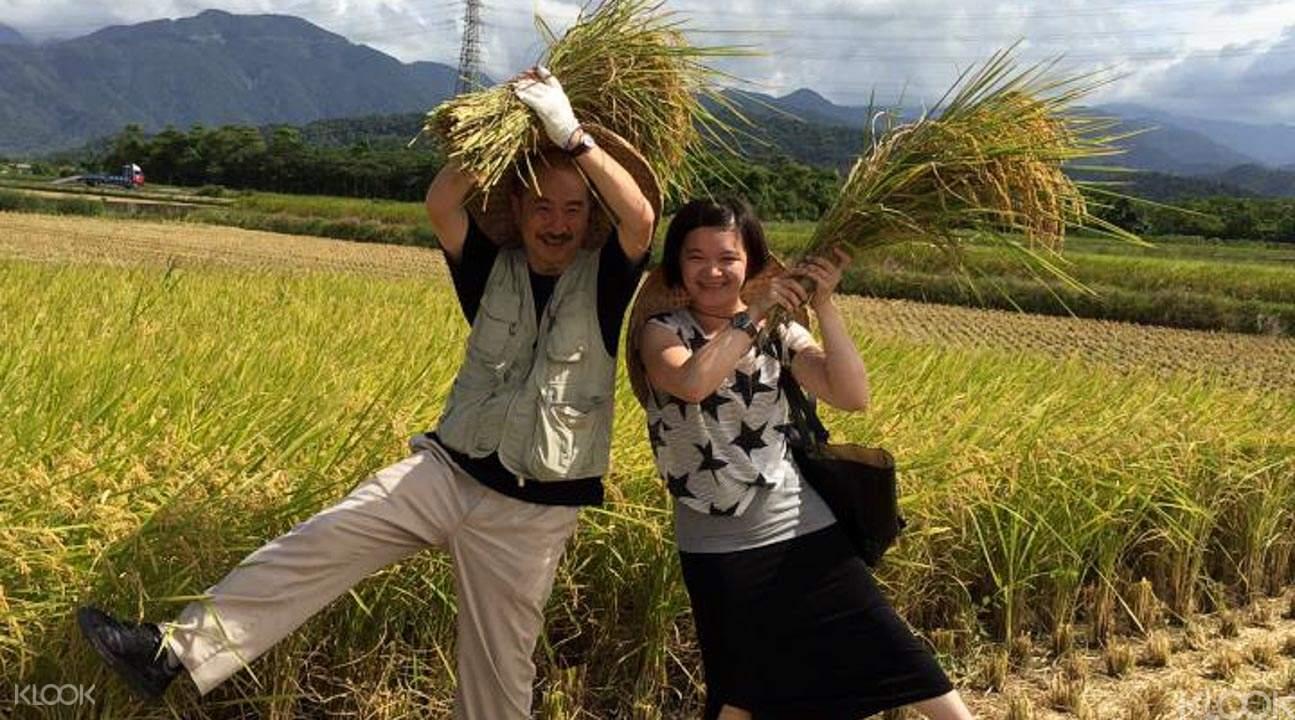 在童話村農場體驗收穫的喜悅