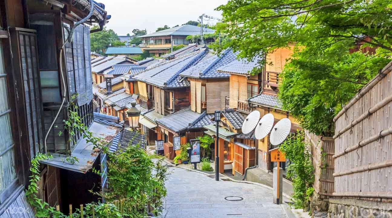自行車穿梭京都