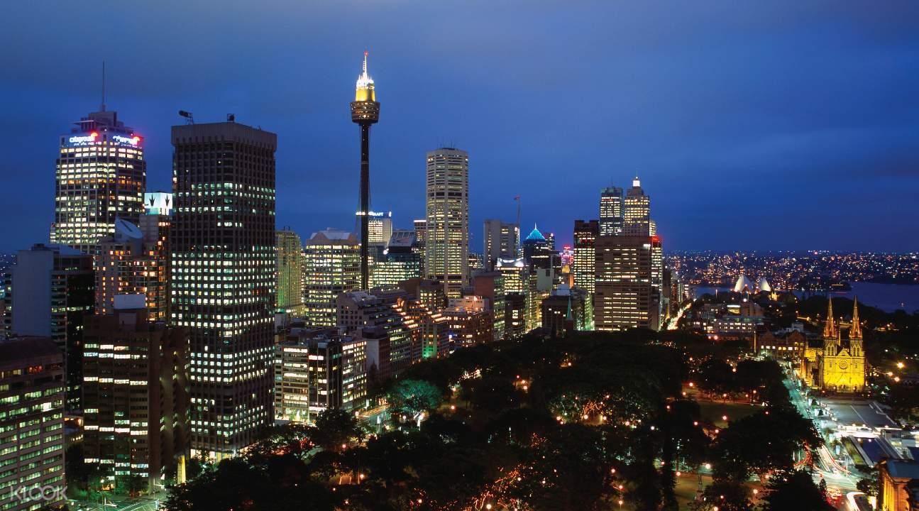 雪梨塔夜景