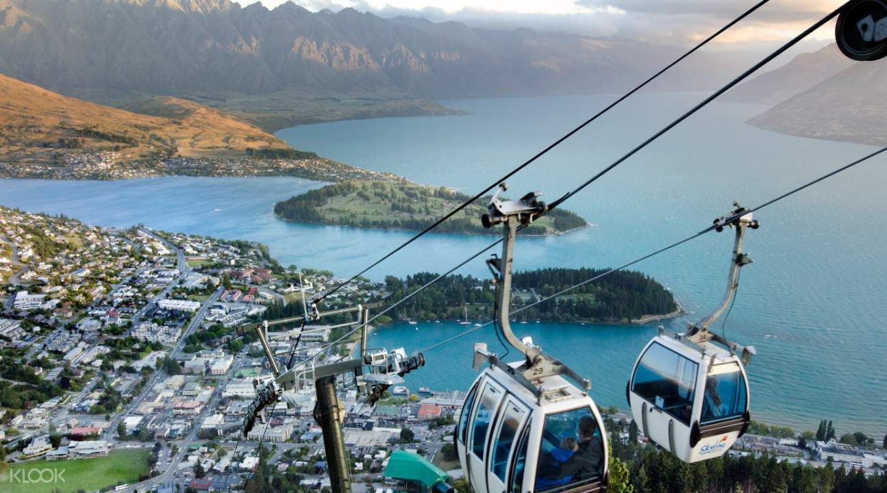 空皇后鎮中觀光纜車俯瞰美麗市鎮