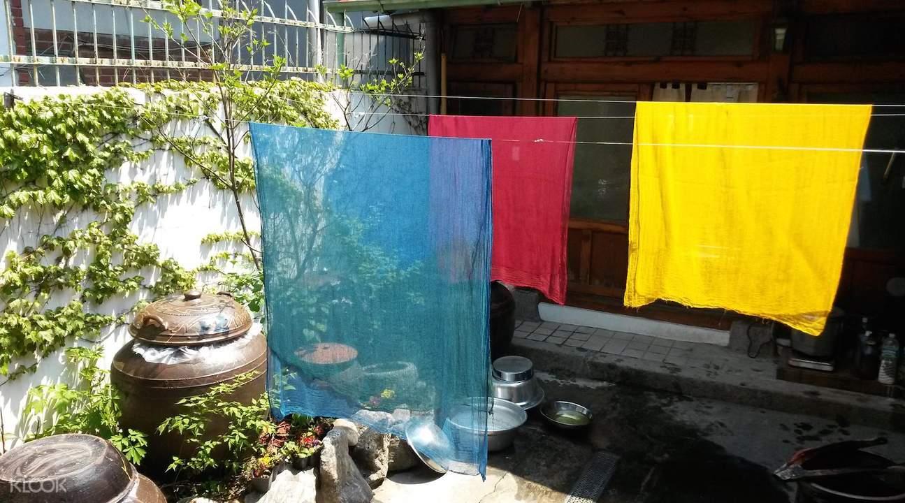 bukchon hanok village traditional dyeing